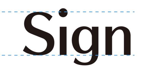 金属文字のサイン