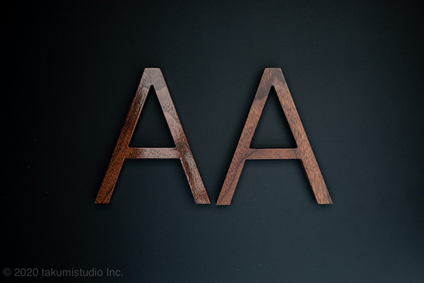 木製切り文字の撮影